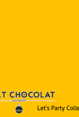 Chat Chocolat Uni viscose let's party yellow