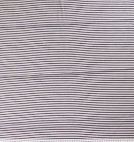 Small stripe navy/ecru