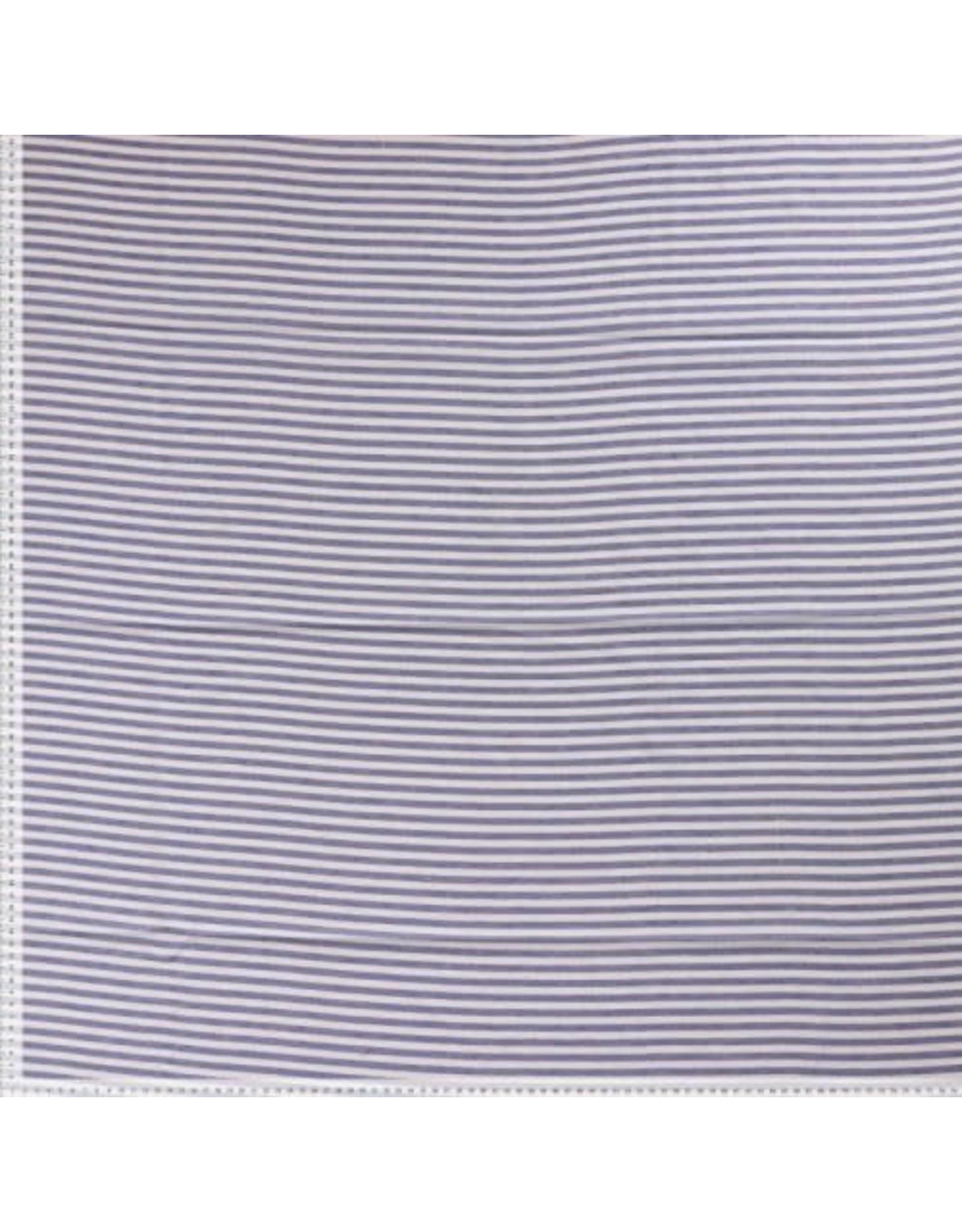 Small stripe blauw/ecru