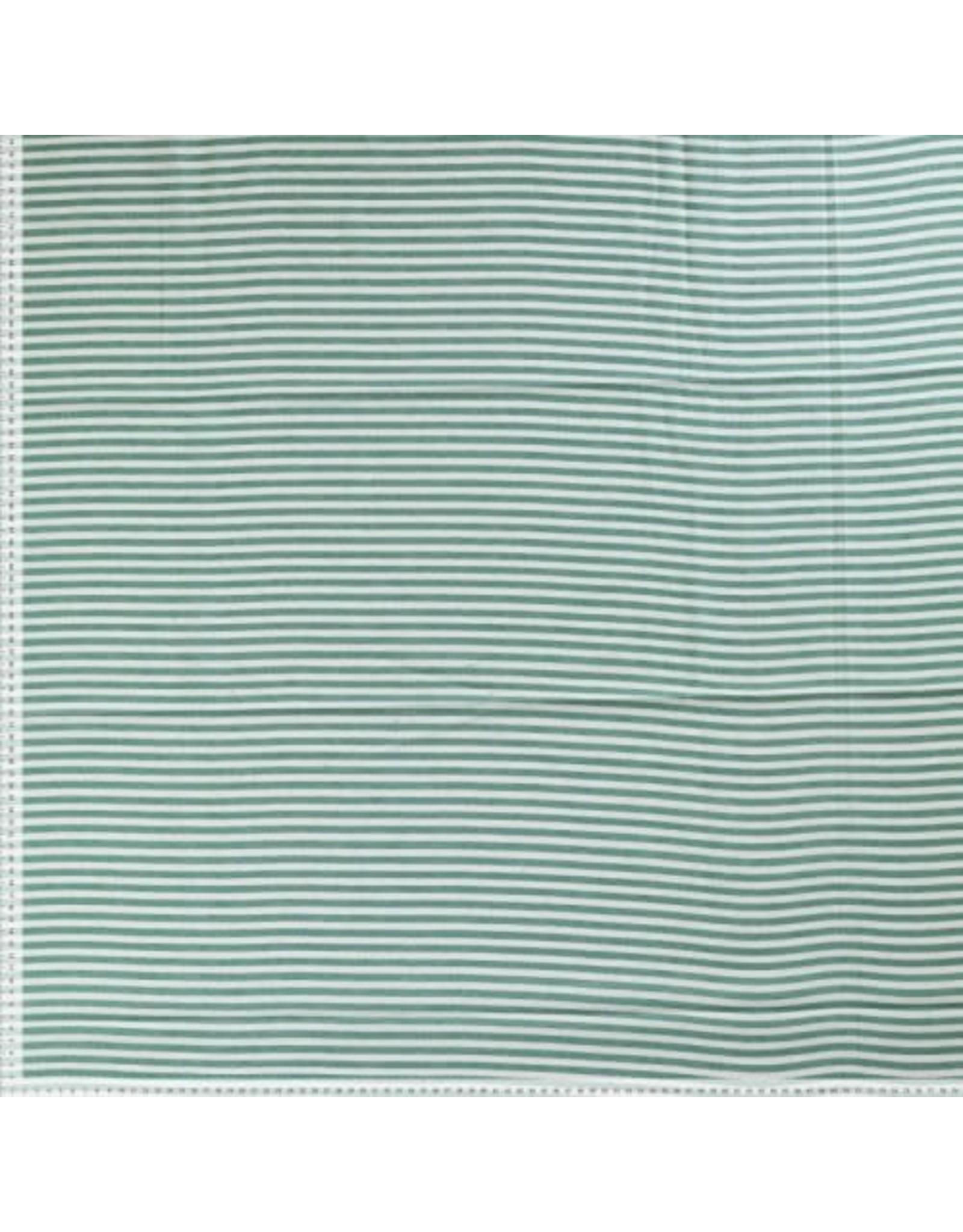 Small stripe groen/ecru