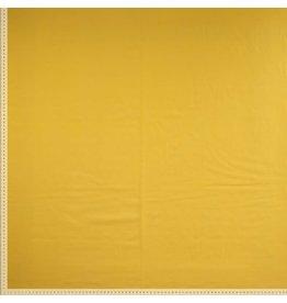 Stik-Stof Uni katoen geel