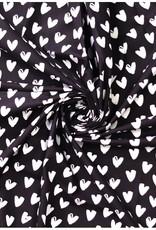 Stik-Stof Hartjes zwart/wit