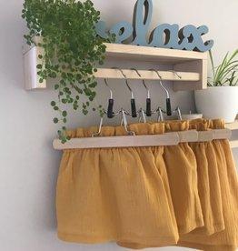 Stik-Stof Paper bag skirt double gauze oker