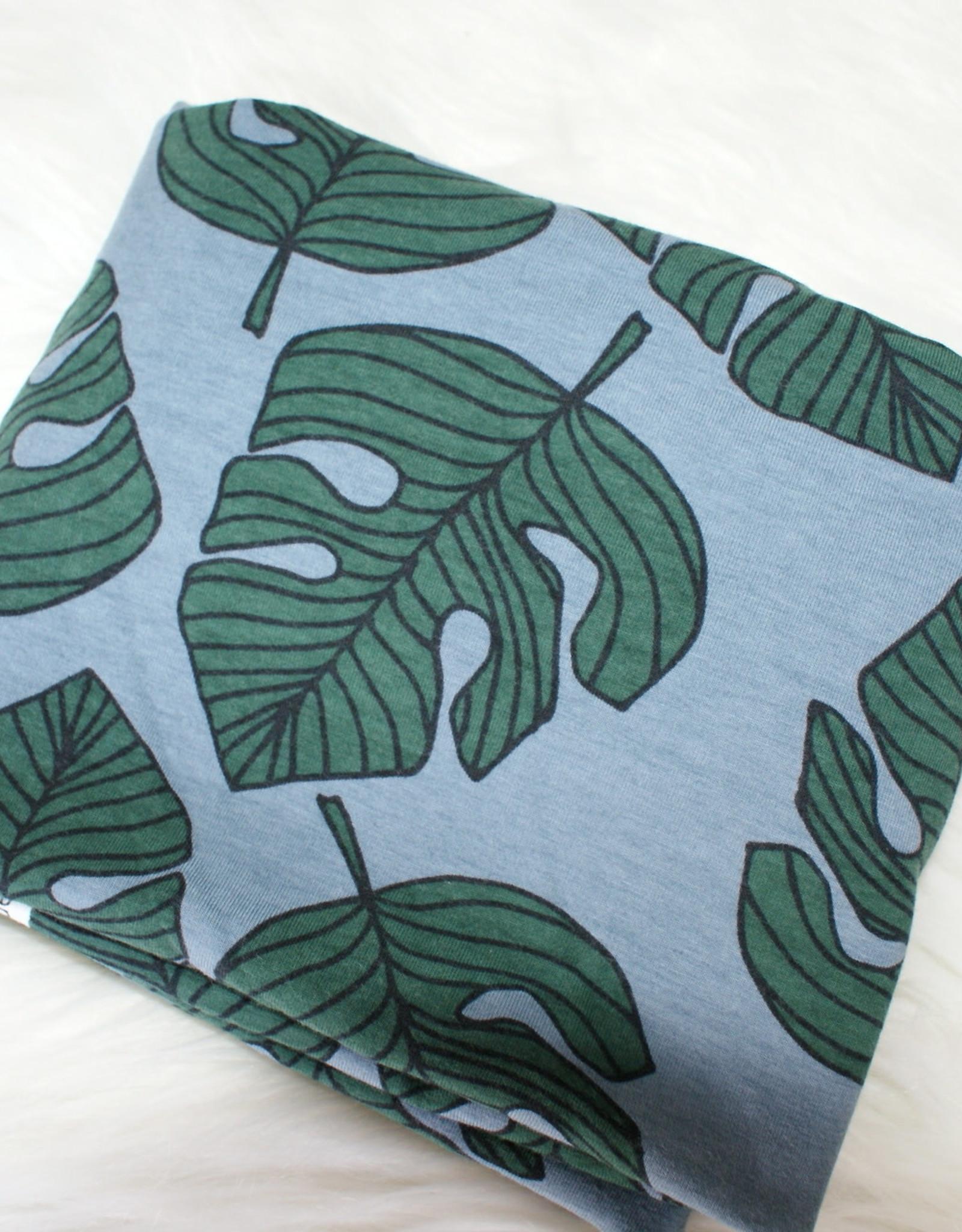 Elvelyckan Leaves blauw COUPON 35 cm