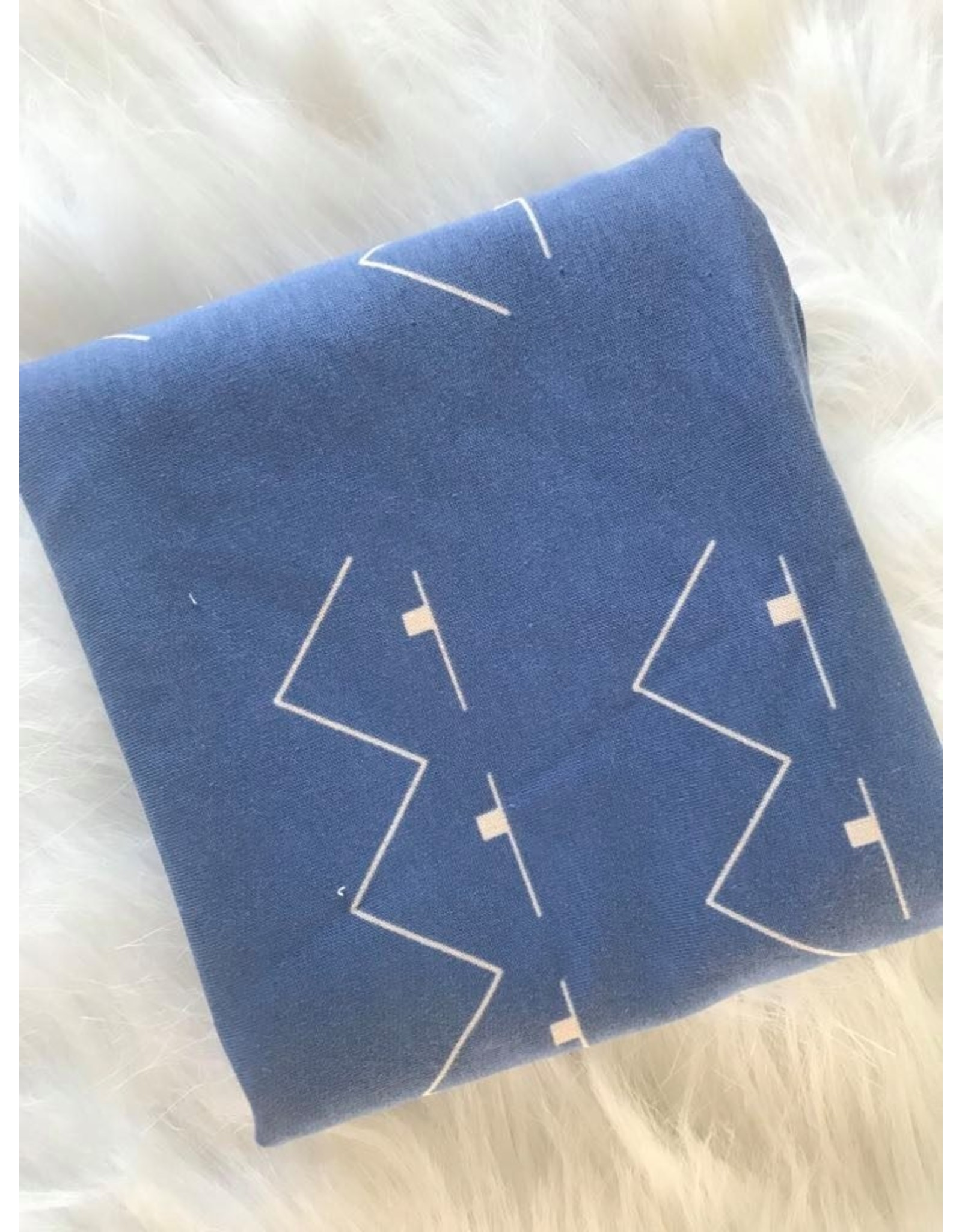 About Blue Fabrics Victory Sky Blue COUPON 45 cm