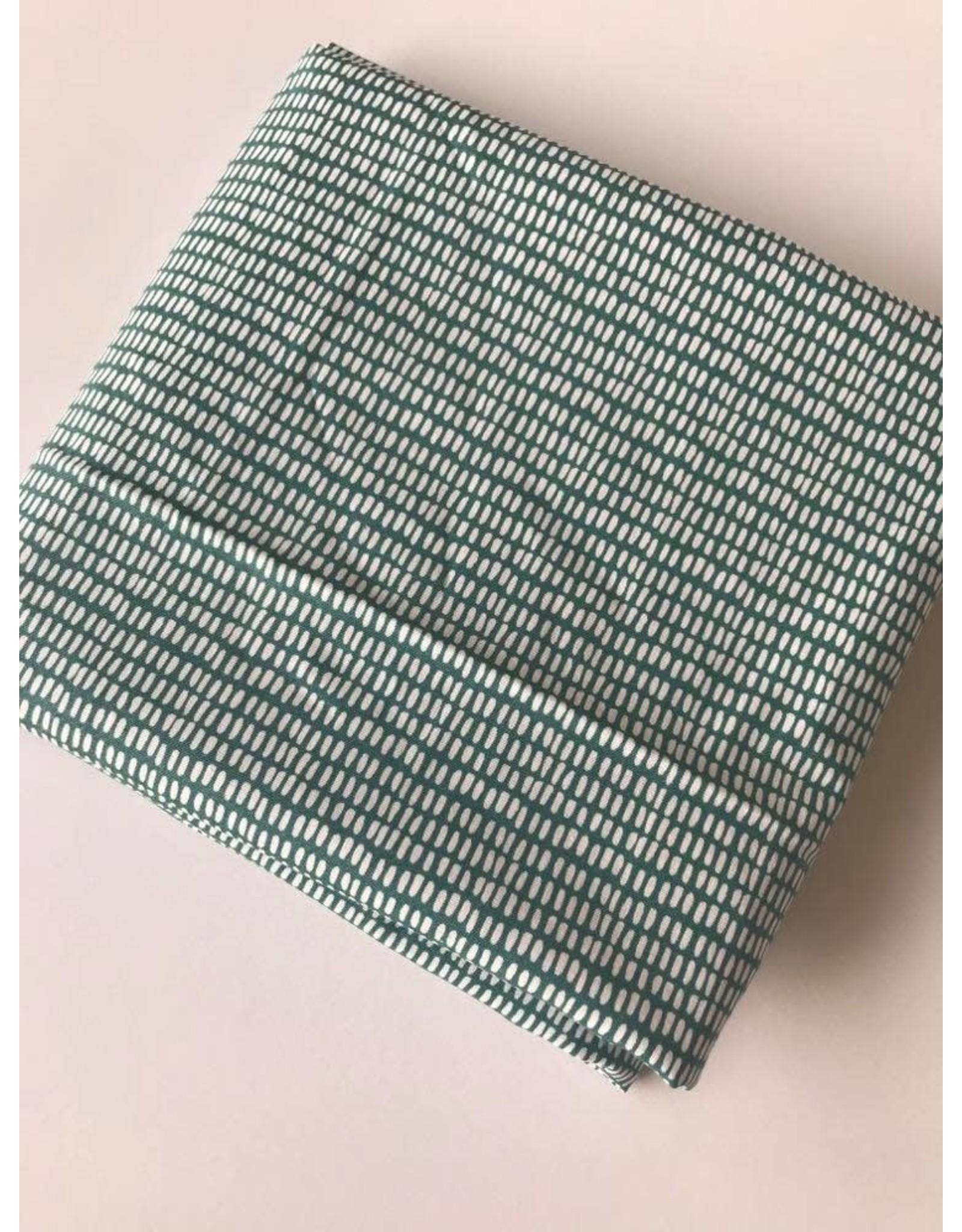 Domotex Katoen groen/wit COUPON 80cm