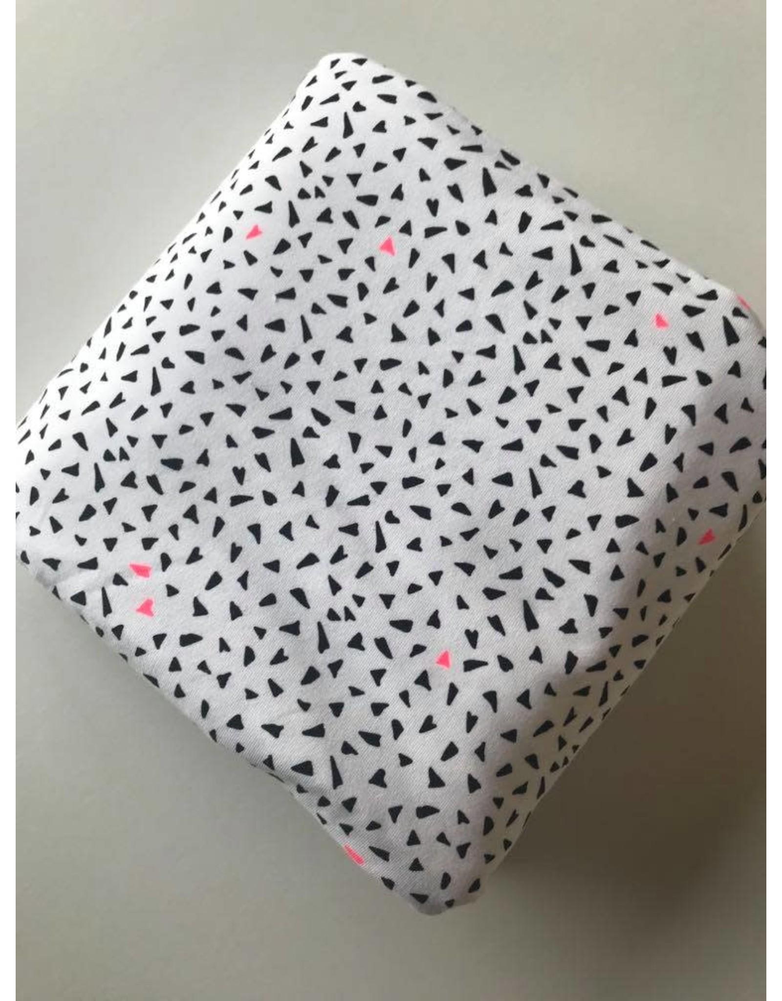 Rico Design Zwart en neon roze COUPON 1.30m