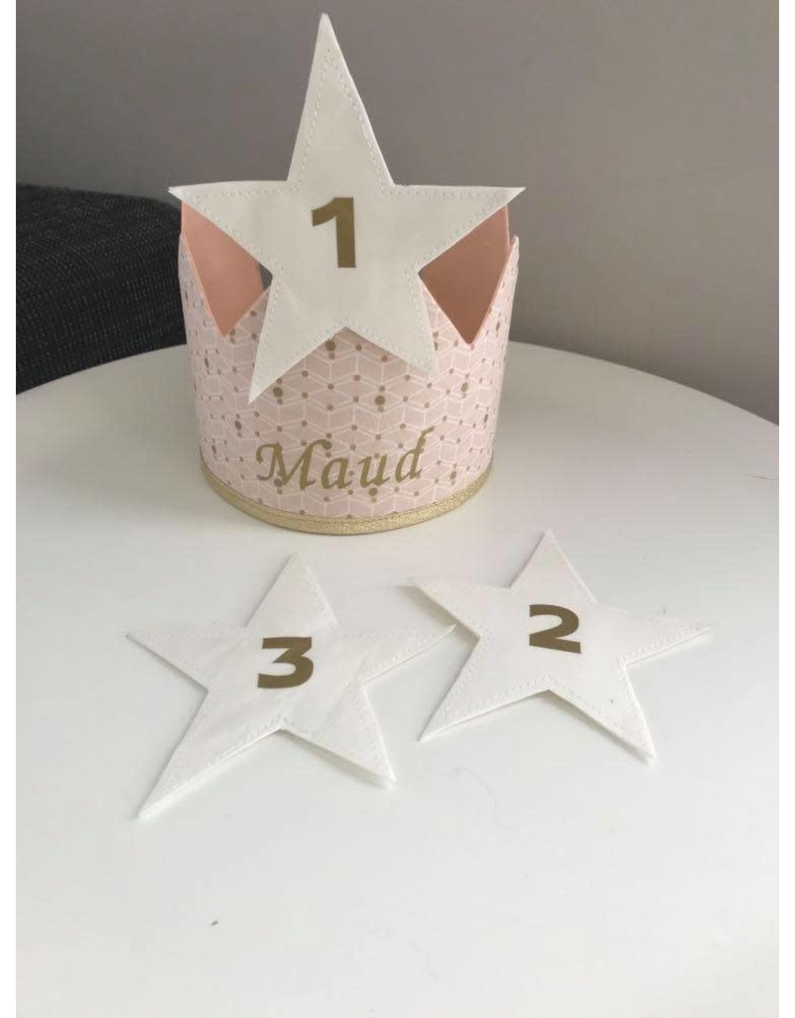 Stik-Stof Verjaardagskroon roze