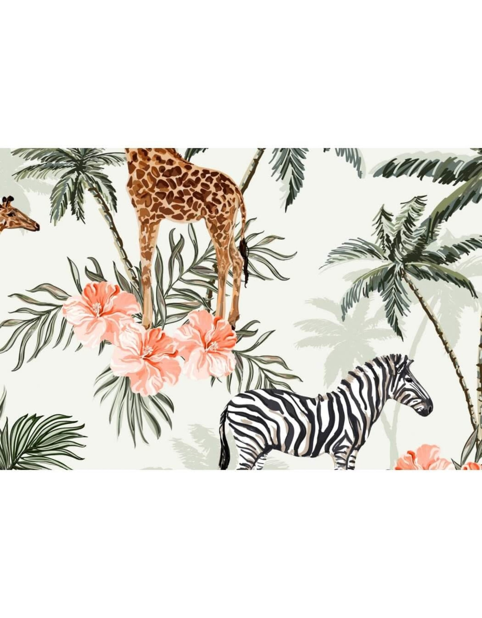 Megan Blue Zebra en giraffe COUPON 45CM