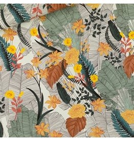 See You At Six Tropic Flowers - Viscose chalk blue