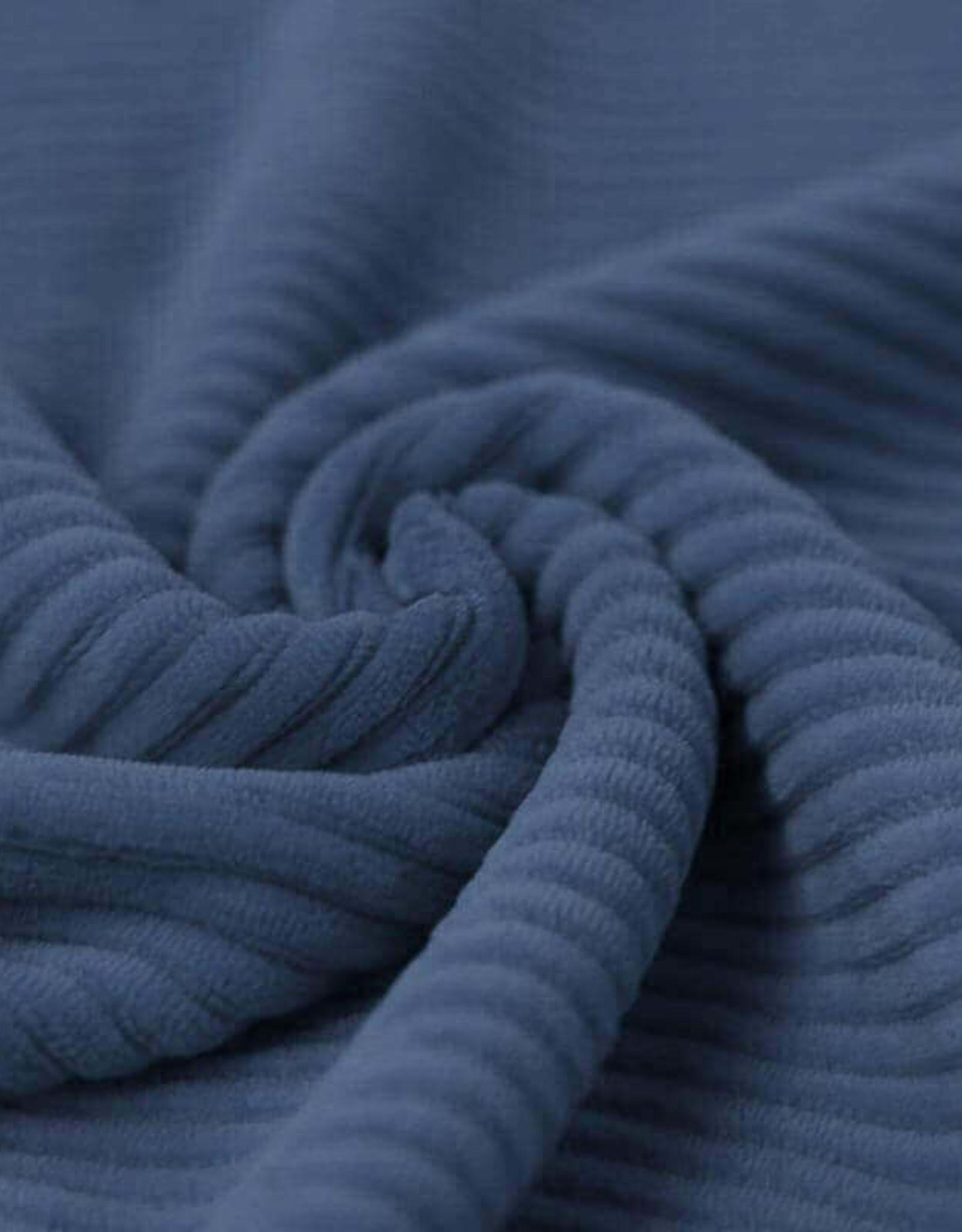 Stik-Stof Brede rib jersey dark jeans