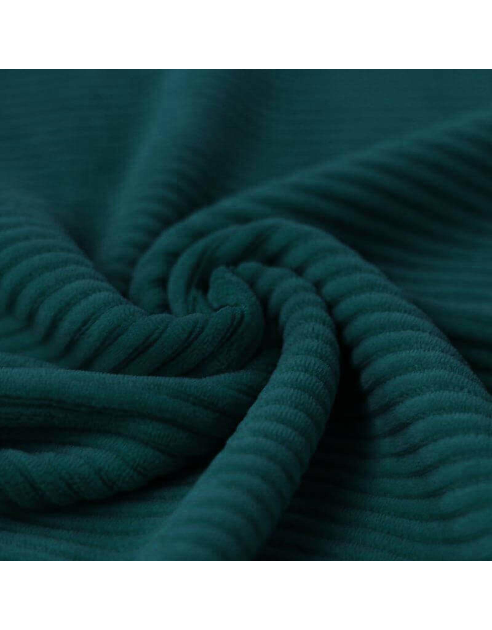 Stik-Stof Brede rib jersey dark green