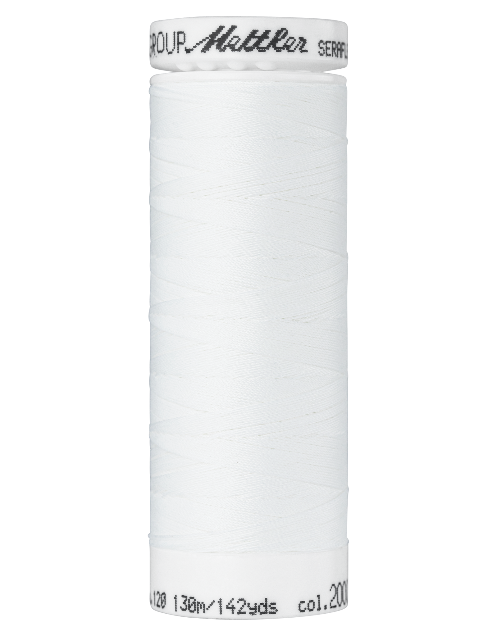 Mettler Seraflex elastisch naaigaren wit 2000