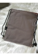 Stik-Stof Turnzak streep zwart/wit/koper