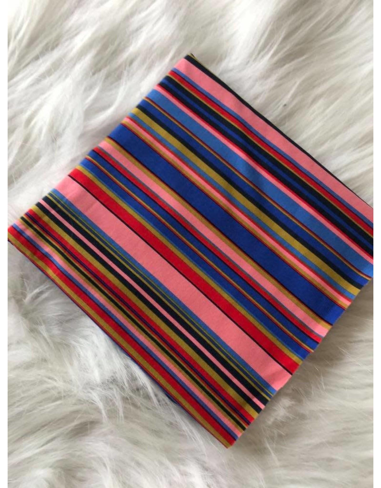Stik-Stof Veelkleurige strepen jersey COUPON 40 cm