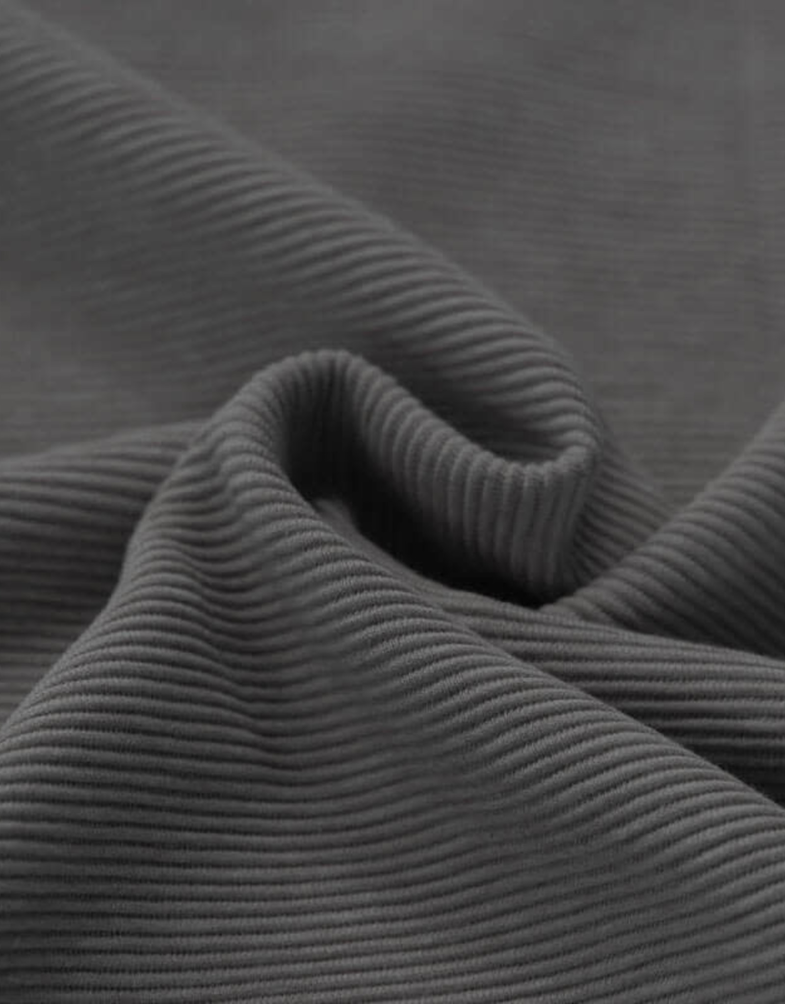 Stik-Stof Ottoman rib jersey donker grijs melange
