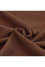 Stik-Stof Ottoman rib jersey licht bruin