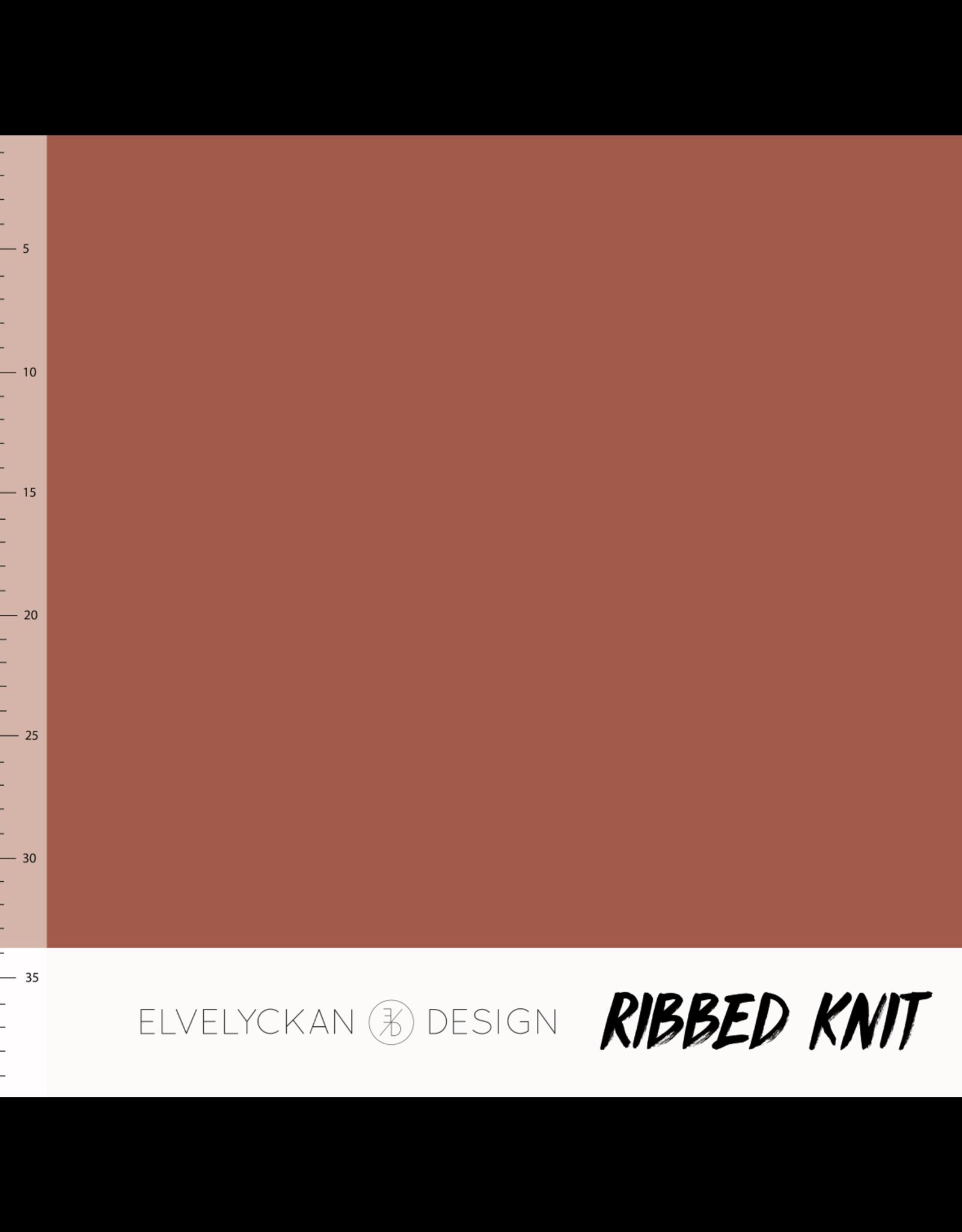 Elvelyckan ribbed knit rusty