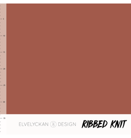 Elvelyckan ribbed knit rusty