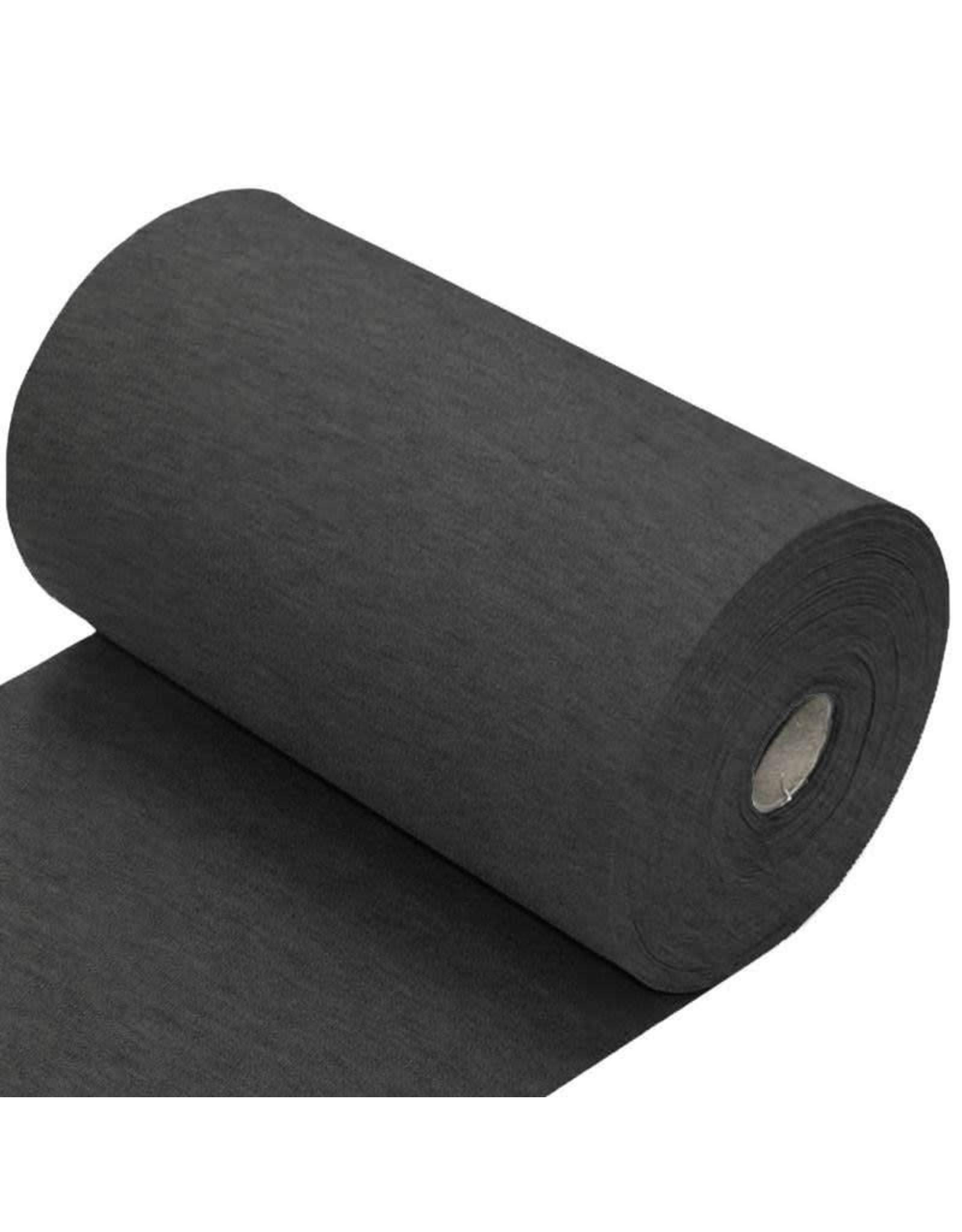 Stik-Stof Boordstof donker grijs melange