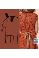 About Blue Fabrics Lewis the elephant