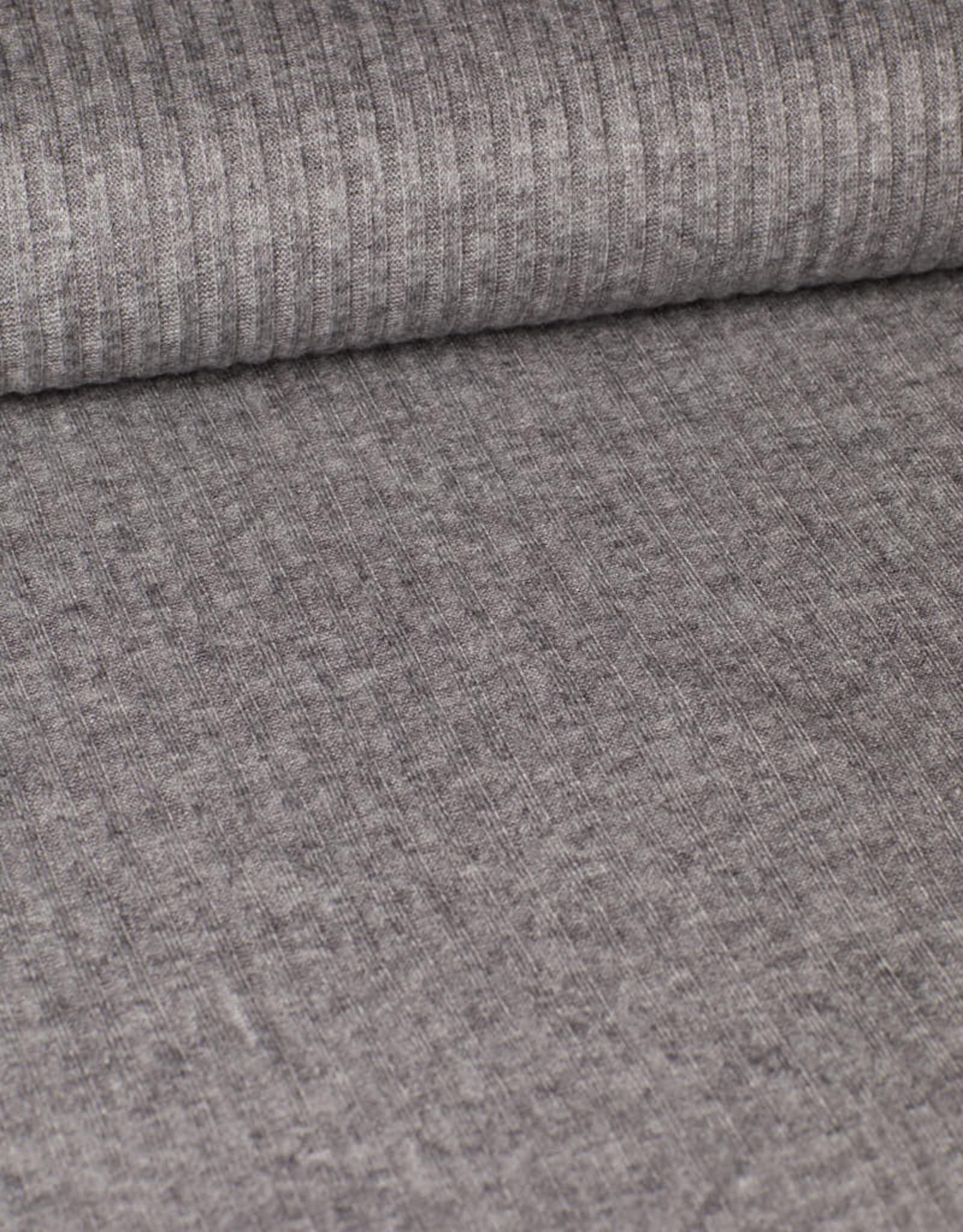 Editex Rib jersey grijs