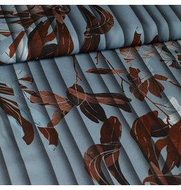 Editex Blauw/grijs met bruin blad