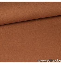 Editex Fijngebreide taupe stof