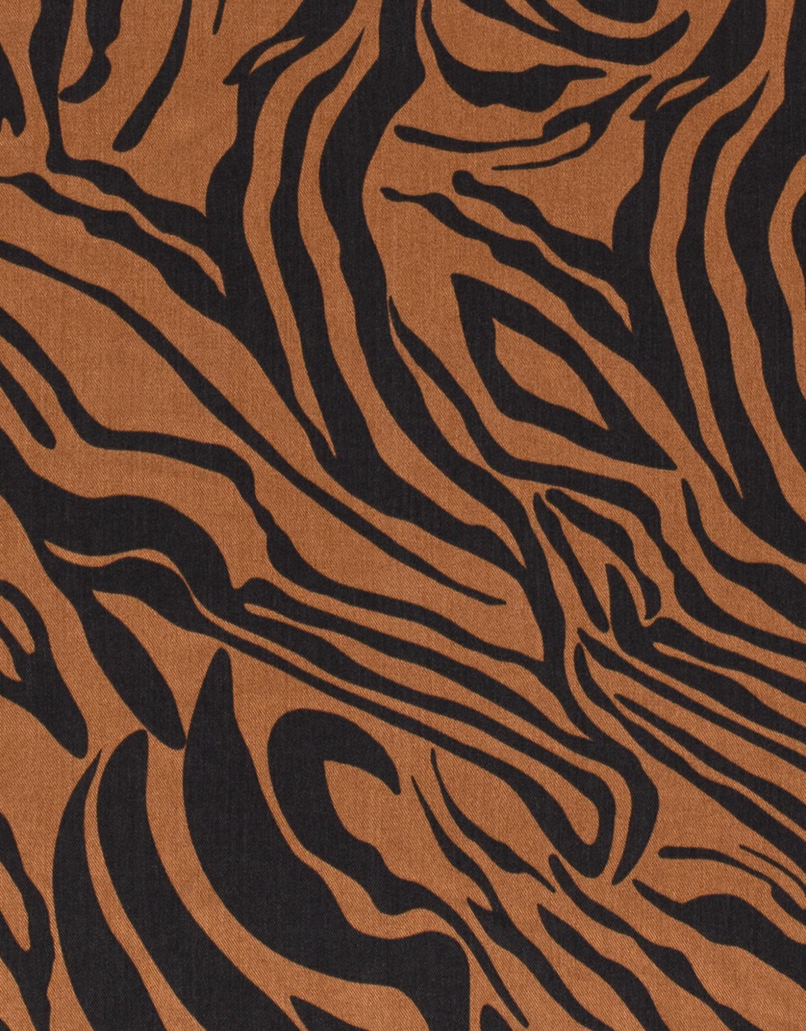Stik-Stof Tencel zebra taupebruin