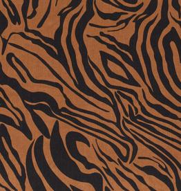 Stik-Stof Tencel zebra taupebruin COUPON 1.30m