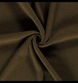 Stik-Stof Big knitted donkergroen