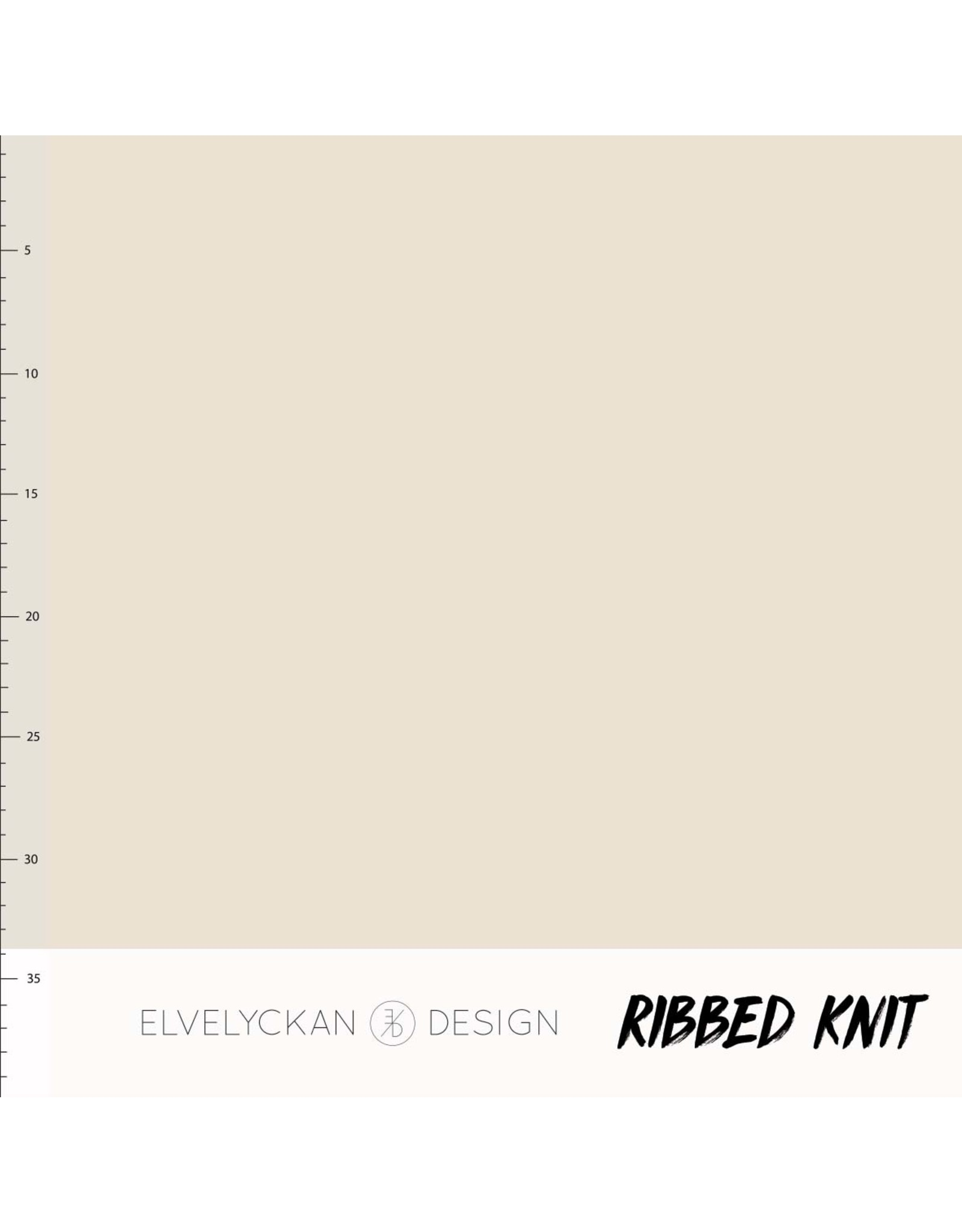 Elvelyckan Ribbed knit creme