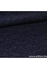 Editex Fijngebreide blauwe stof met glitter
