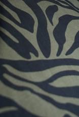 Stik-Stof Tencel zebra groen COUPON 70 cm