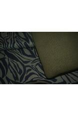 Stik-Stof Tencel zebra groen
