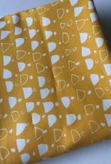 Stik-Stof Canvas geel ecru print COUPON 1m