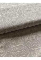 Stik-Stof canvas grijs ecru print