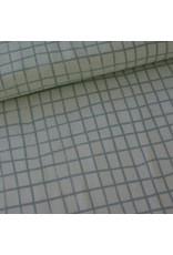 Rico Design raster grijs katoen