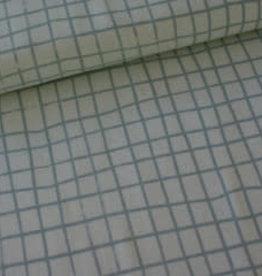 Rico Design raster grijs katoen COUPON 1 meter