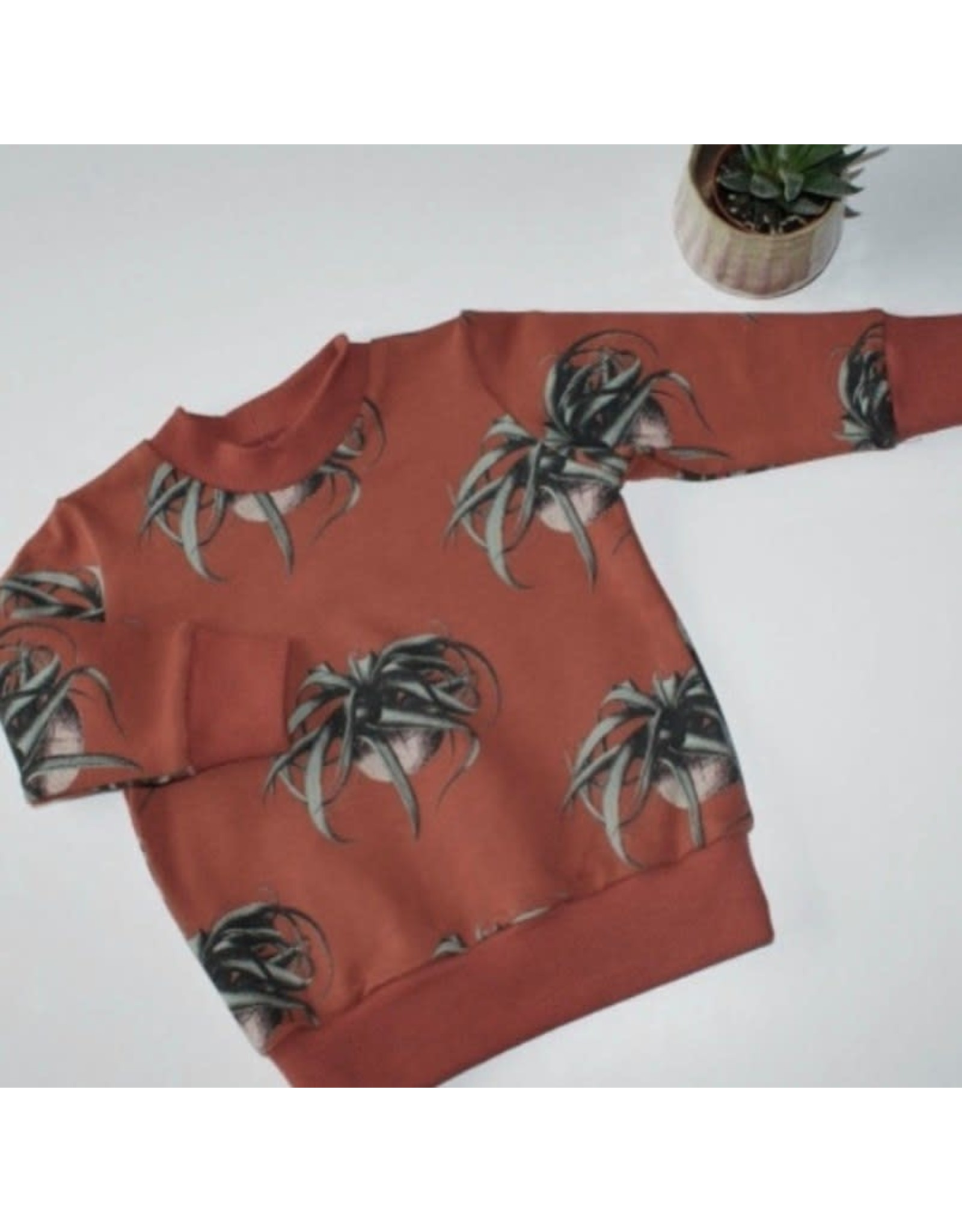 Stik-Stof Sweater air plants maat98