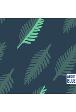 About Blue Fabrics Wonders of life leaf COUPON 65 cm