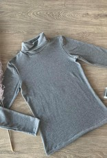 Editex Fijngebreide grijze tricot stof