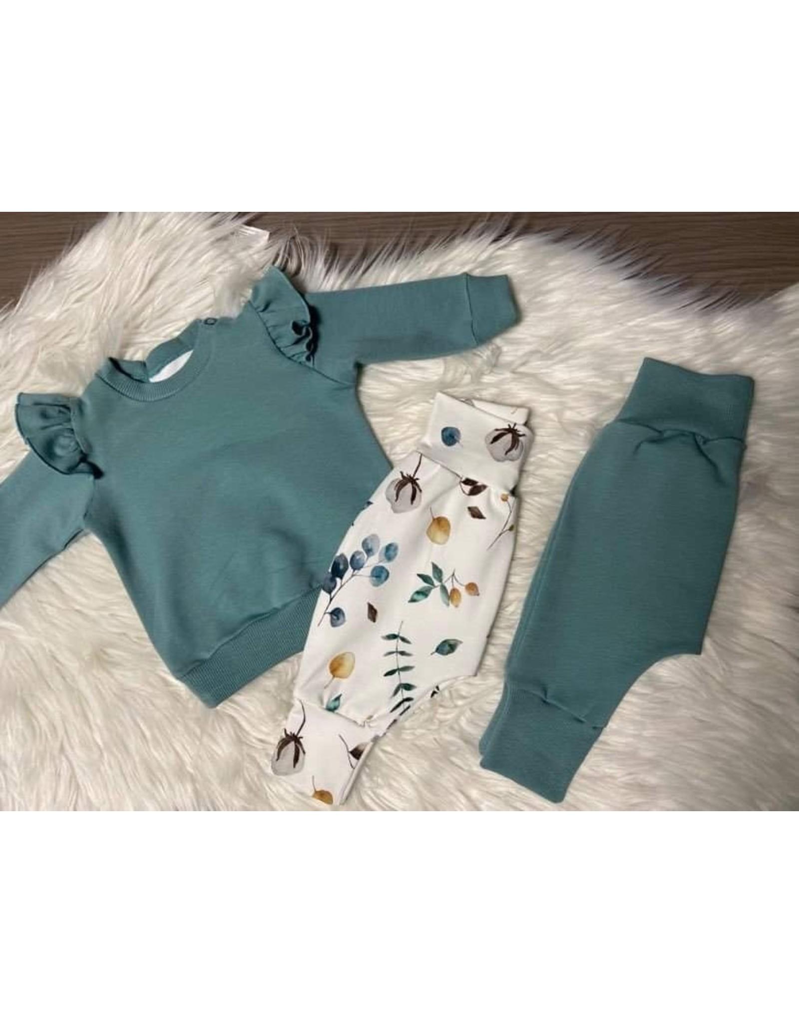 Stik-Stof Sweater met ruffle trellis blue