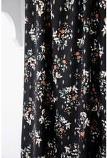 Atelier Jupe Black lurex viscose with soft flower print