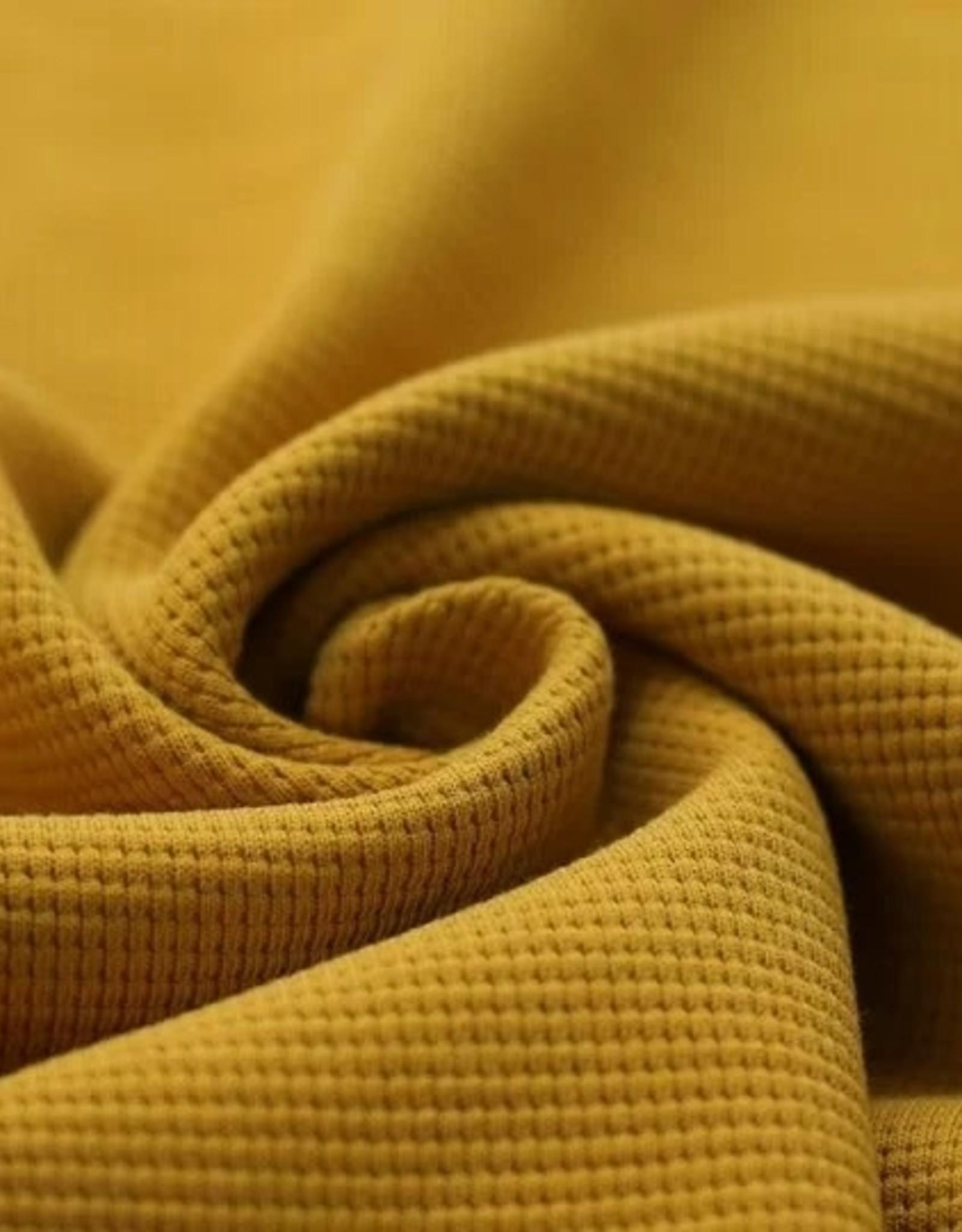 Stik-Stof Wafel knit oker