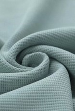 Stik-Stof Wafel knit jersey sea green