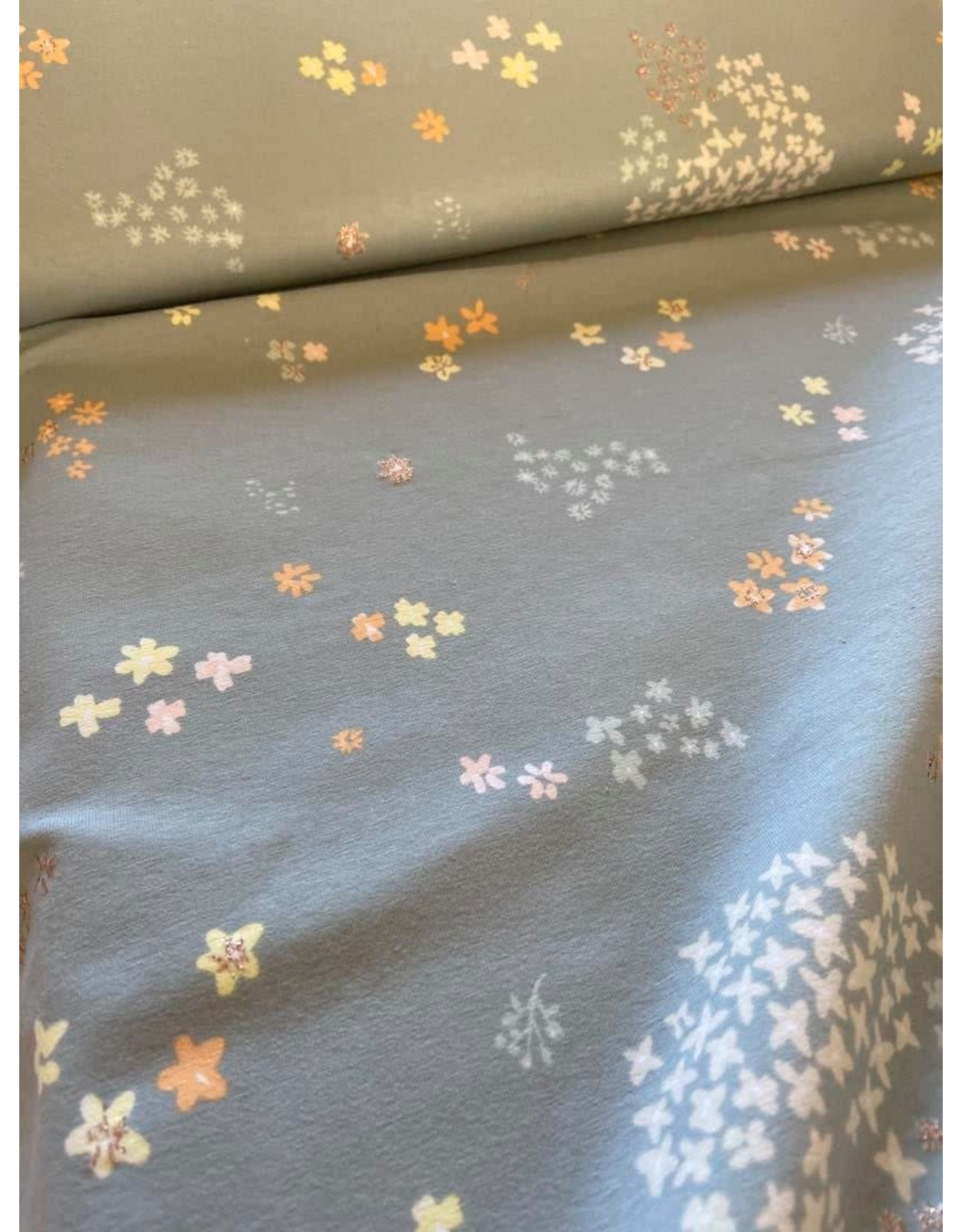 Rico Design Flowers metallic grey