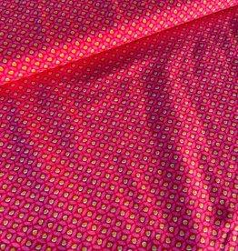 Stik-Stof Tiny dot roze COUPON 40 cm