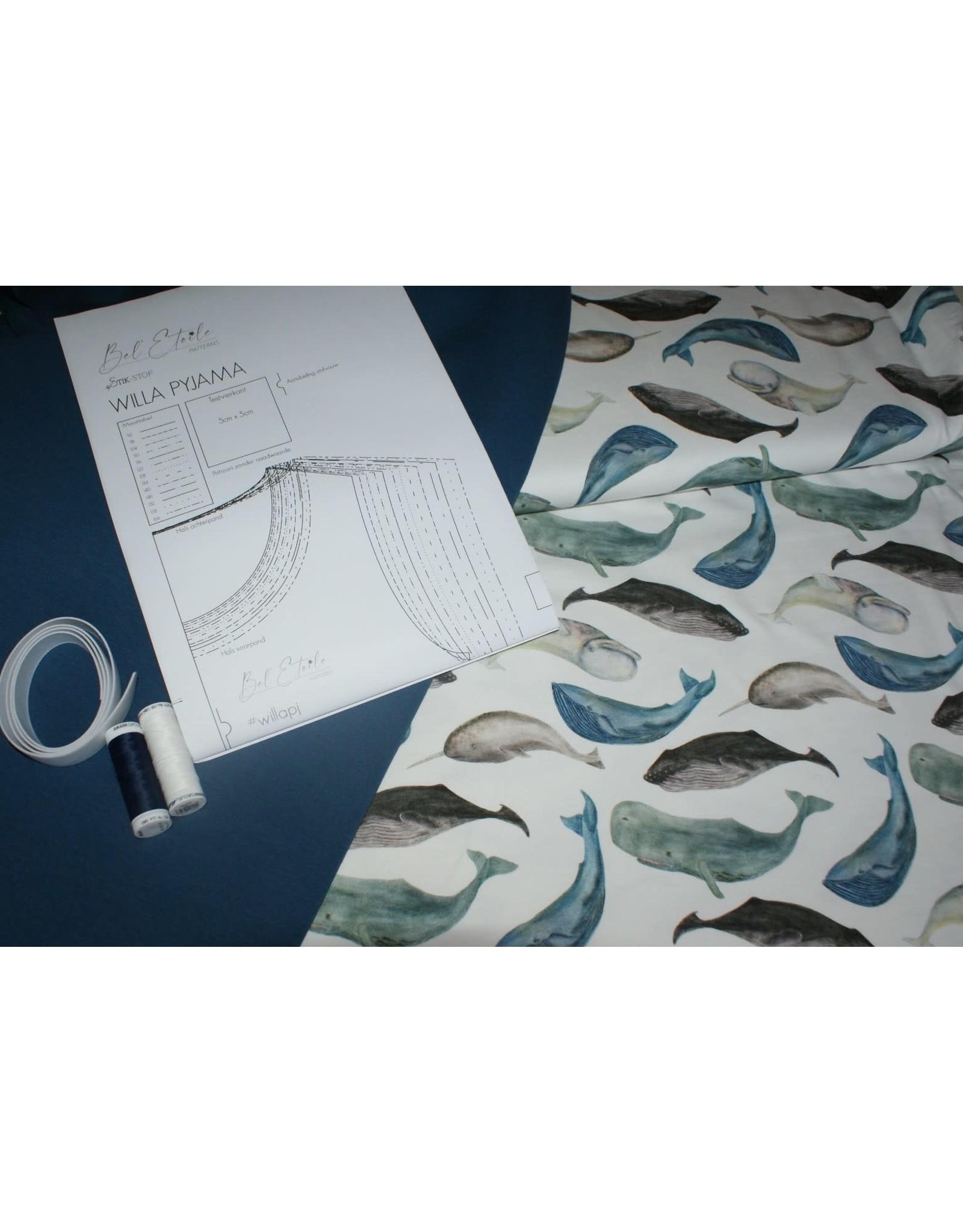 Stik-Stof DIY pyjama pakket vissen