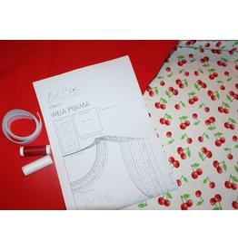 Stik-Stof DIY pyjama pakket kersen